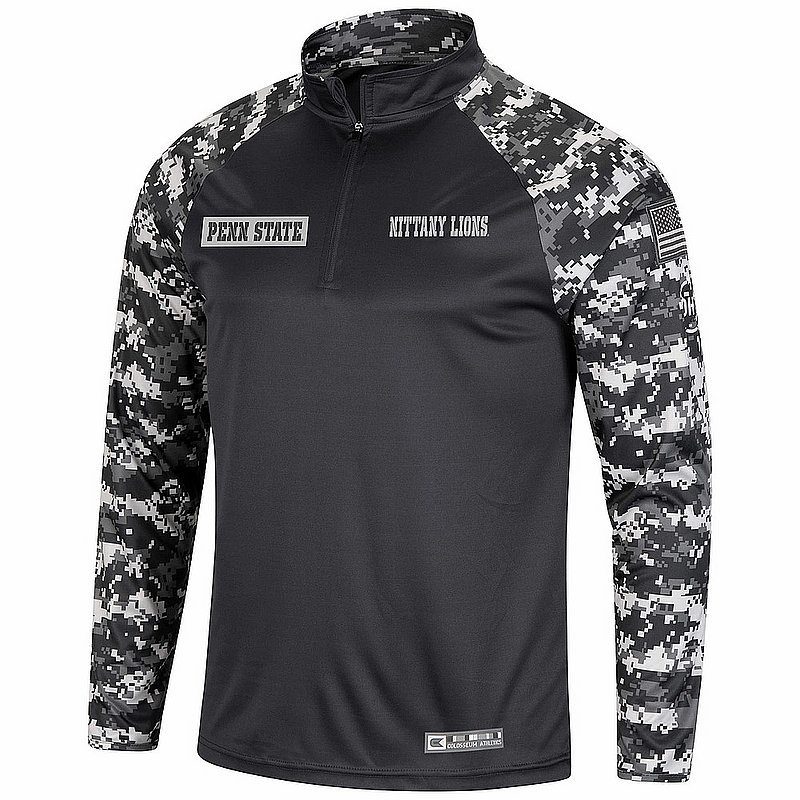 Penn State OHT Military Appreciation Digital Camo Performance Quarter Zip Nittany Lions (PSU)