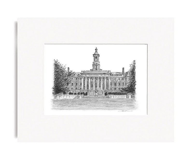 "Old Main Fine Art Print 5""x7"" Matted"