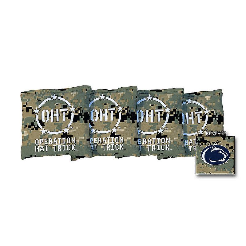 Penn State Operation Hat Trick Cornhole Bag 4-Pack Jungle Camo Nittany Lions (PSU)