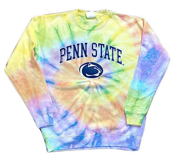 Penn State Pastel Dreamsicle Tie Dye Crewneck Sweatshirt Nittany Lions (PSU)