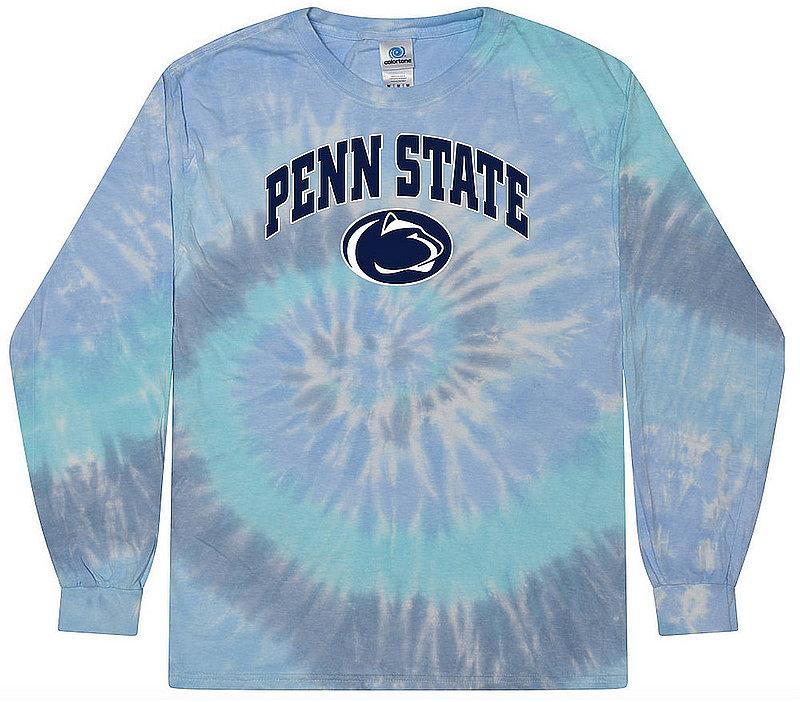 Penn State Pastel Lagoon Tie Dye Long Sleeve Tee