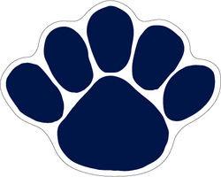 Penn State Paw Decal 3.5 inch Nittany Lions (PSU) DPSU24