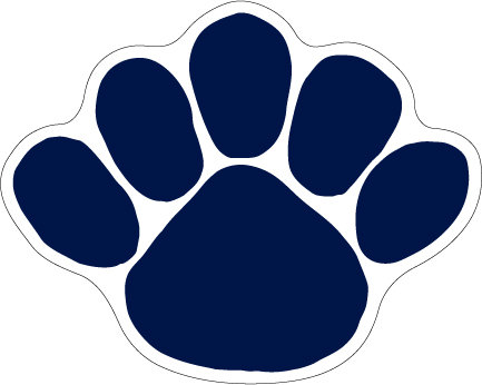 "Penn State Paw Magnet Large - 9"" x 11.5"" Nittany Lions (PSU) PSU018"