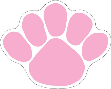 Penn State Paw Magnet Pink Nittany Lions (PSU) PSU069