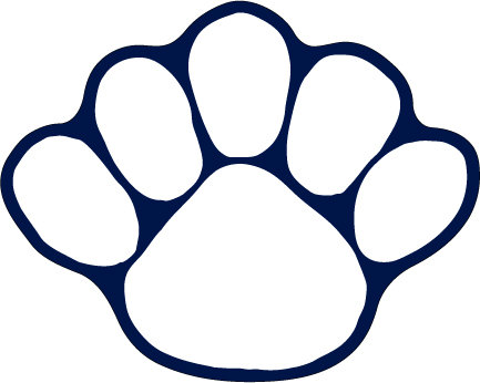 Penn State Paw Magnet White