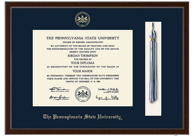 Penn State Pennsylvania State University Diploma Frame Tassel Edition Nittany Lions (PSU)