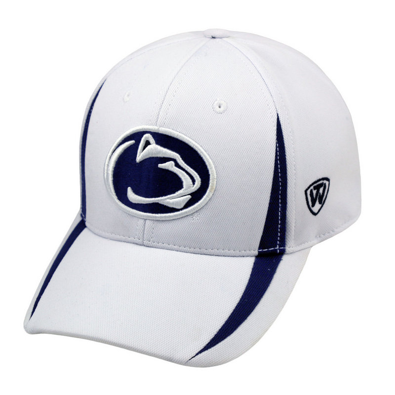 Penn State Performance Hat White With Navy Inserts Nittany Lions (PSU)