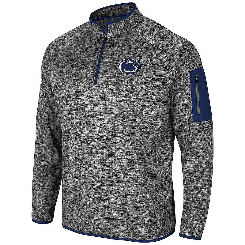 Penn State Performance Heather Grey Navy Trim Quarter Zip Nittany Lions (PSU)