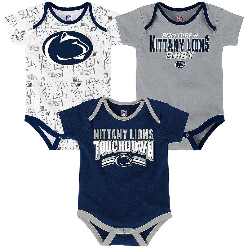 Penn State Playmaker Onesie 3-Pack Nittany Lions (PSU)