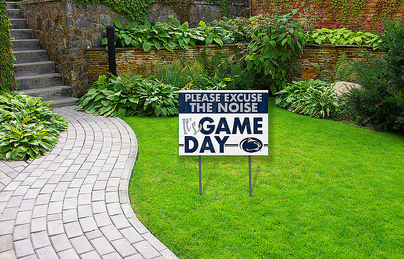 Penn State Please Excuse The Noise - It's Game Day Tailgate Sign