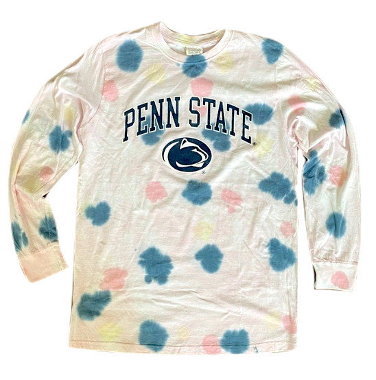Penn State Polka Dot Tie Dye Long Sleeve Nittany Lions (PSU)