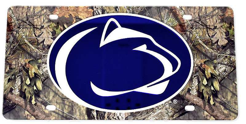 Penn State Premium Acrylic Camo Mirrored License Plate Nittany Lions (PSU)