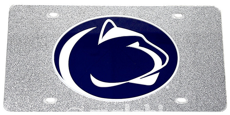Penn State Premium Acrylic Glitter License Plate Nittany Lions (PSU)