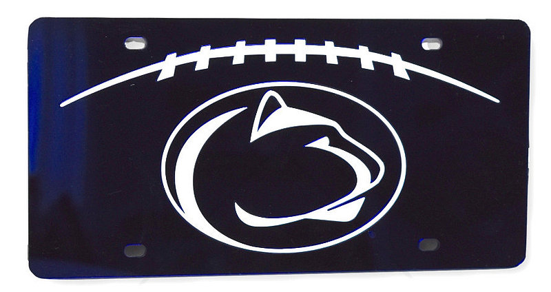Penn State Premium Acrylic Navy Mirrored License Plate Nittany Lions (PSU)