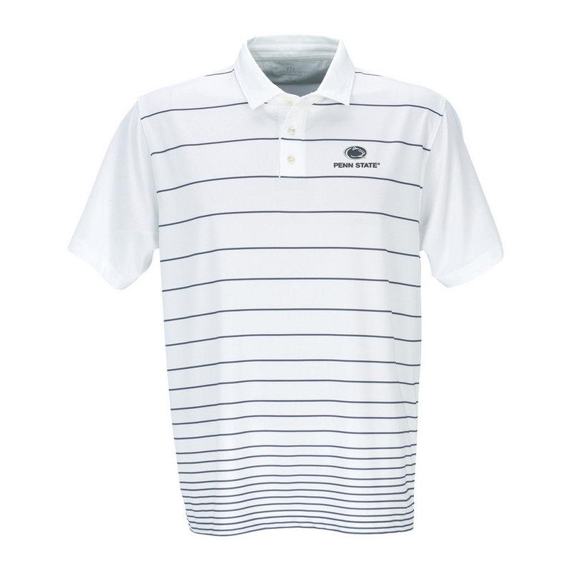 Penn State Pro Gradual Stripe Polo Grey