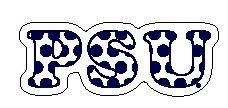 Penn State PSU Polka Dot Magnet 5 Inch Nittany Lions (PSU) PSU077