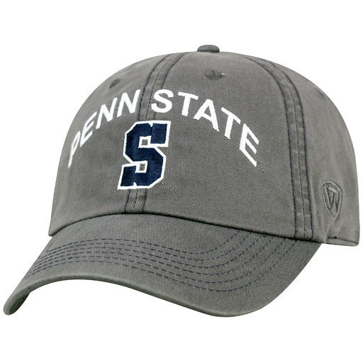 Penn State Relaxed Fit Hat Charcoal Arching Over Block S Nittany Lions (PSU)