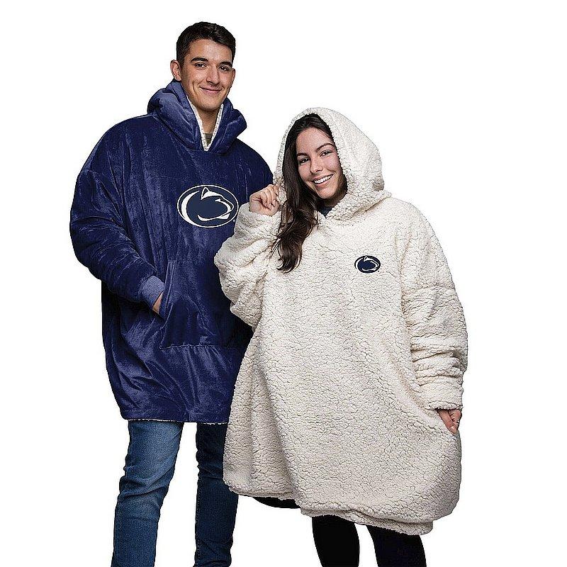 Penn State Reversible Oversized Sherpa Sweatshirt Hoodeez Nittany Lions (PSU)