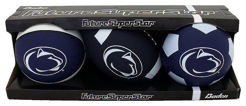 Penn State Rubber Future Superstar 3 Pack Set Nittany Lions (PSU)