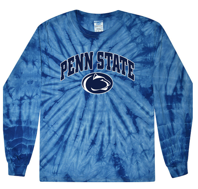 Penn State Shades of Blue Tie Dye Long Sleeve Nittany Lions (PSU)