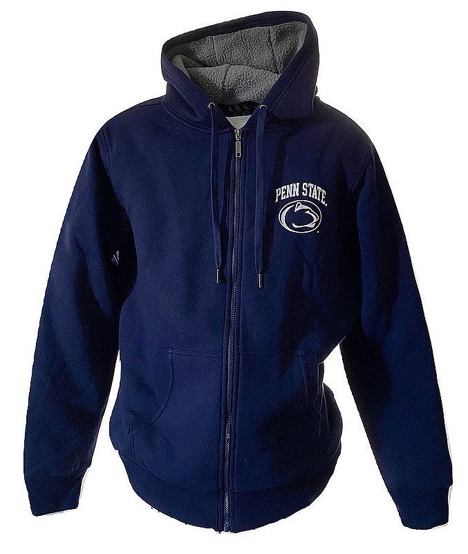 Penn State Sherpa Lined Full Zip Hooded Sweatshirt Nittany Lions (PSU)