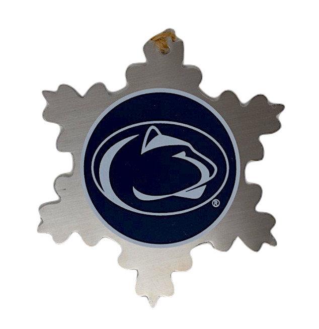 Penn State Silver Metal Snowflake Ornament Nittany Lions (PSU)