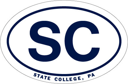 """Penn State State College SC Car Magnet Euro Style 5"""" x 6"""" Nittany Lions (PSU) PSU050"""