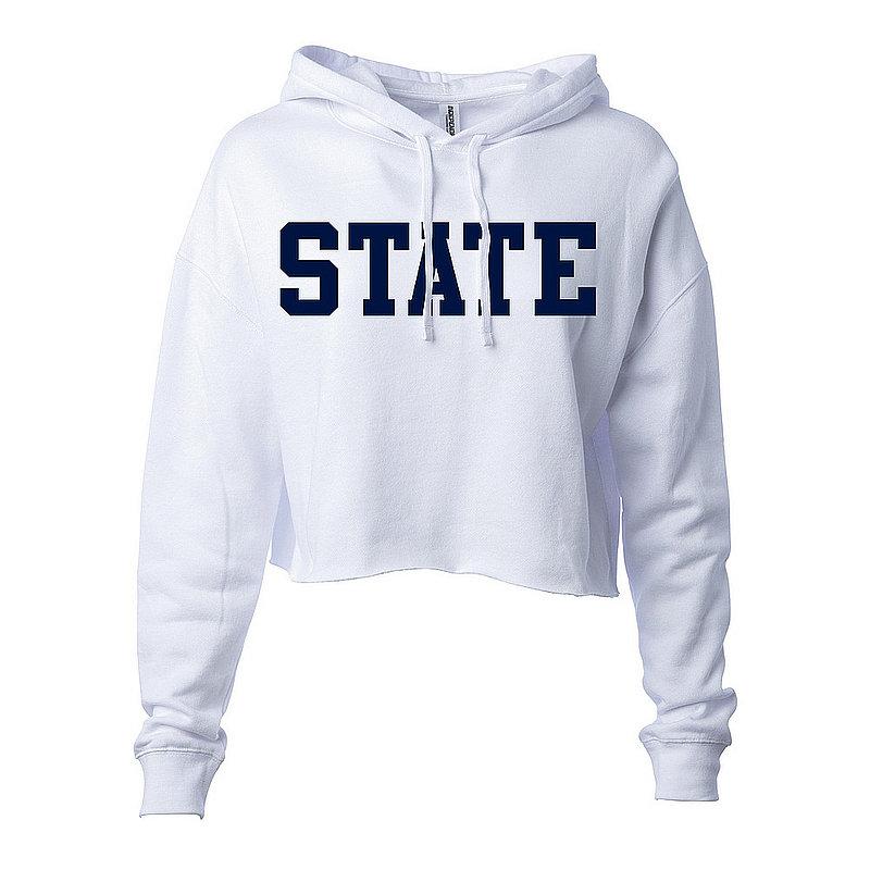 Penn State State Women's White Hooded Crop Sweatshirt Nittany Lions (PSU)