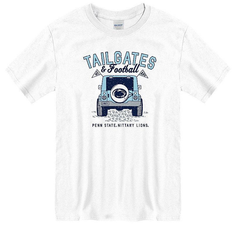 Penn State Tailgates & Football Jeep Tee White Nittany Lions (PSU)
