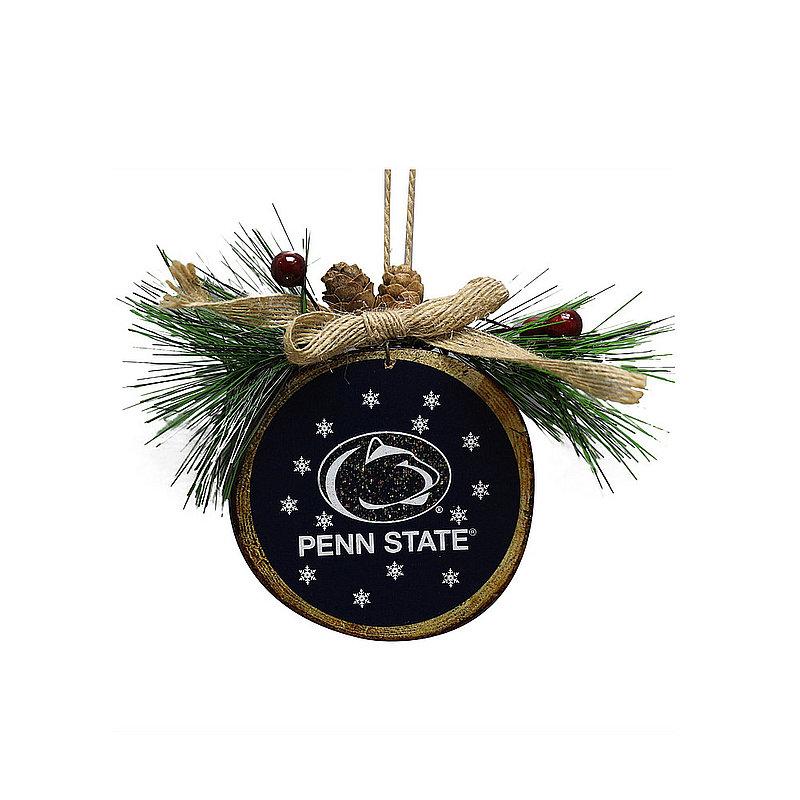 Penn State Team Wood Stump Ornament Nittany Lions (PSU)