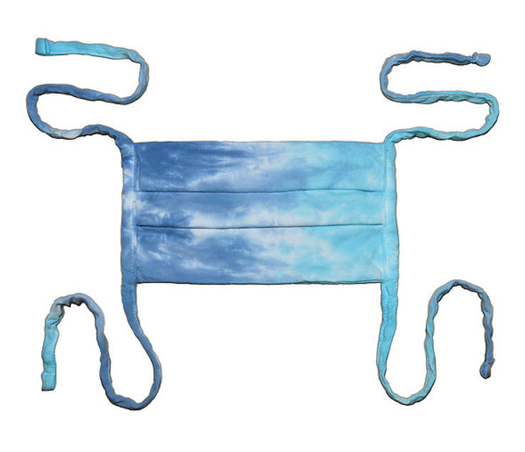 Tie Dye Blue Lagoon Cloth Face Mask