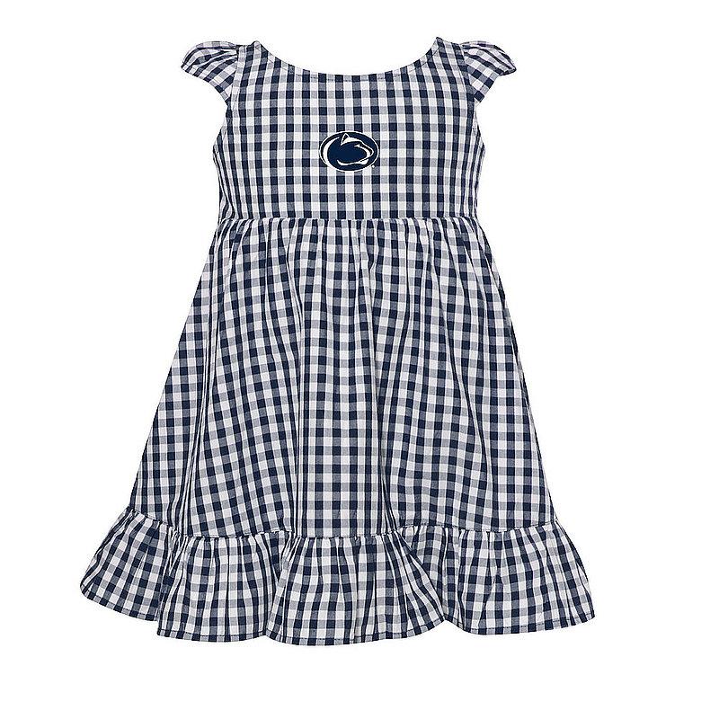 Penn State Toddler Girls Garb Gingham Dress Nittany Lions (PSU)