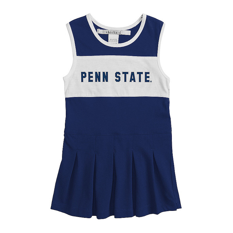 Penn State Toddler Navy and White Block Cheerleader Dress Nittany Lions (PSU)