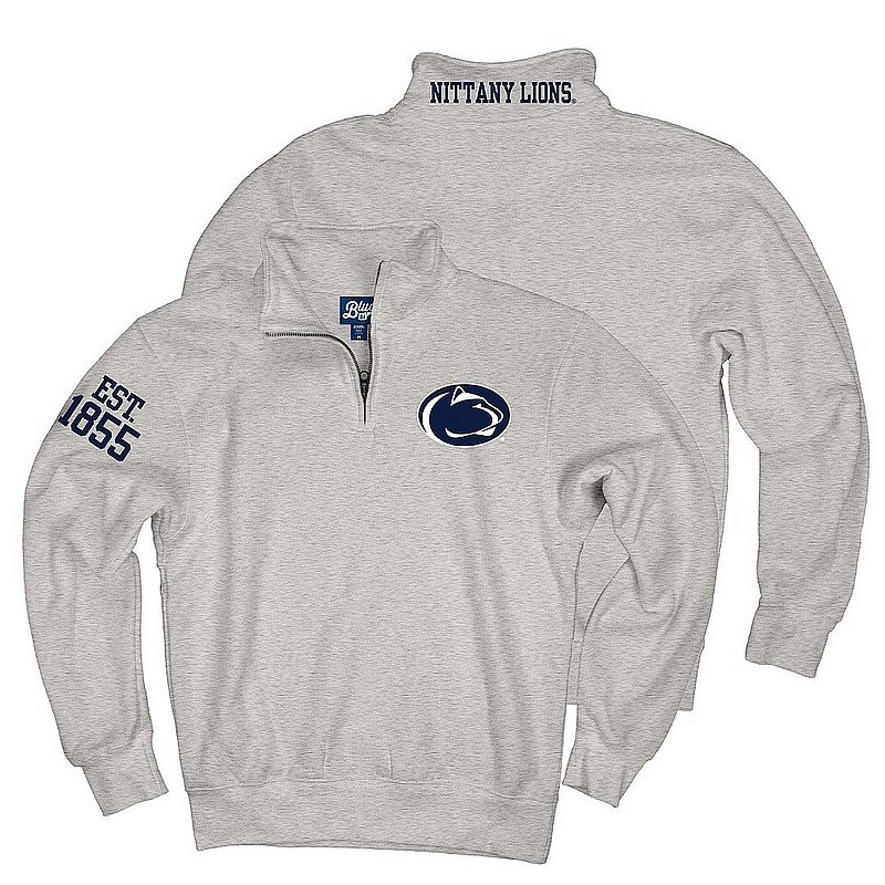 Penn State Top of The World Grey Embroidered Quarter Zip Nittany Lions (PSU) (Top of The World )