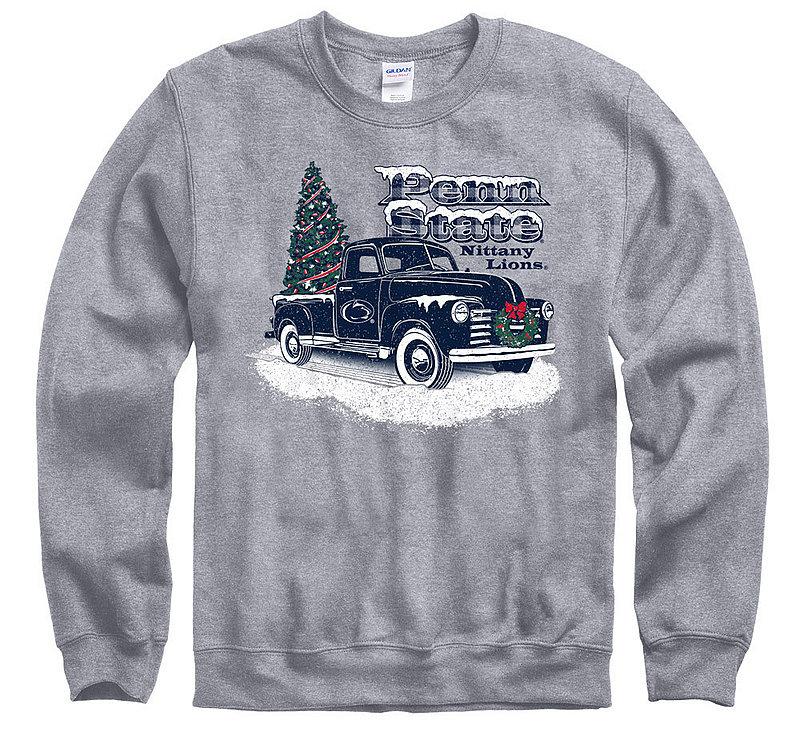 Penn State Truck with Tree Holiday Crewneck Sweatshirt Nittany Lions (PSU)