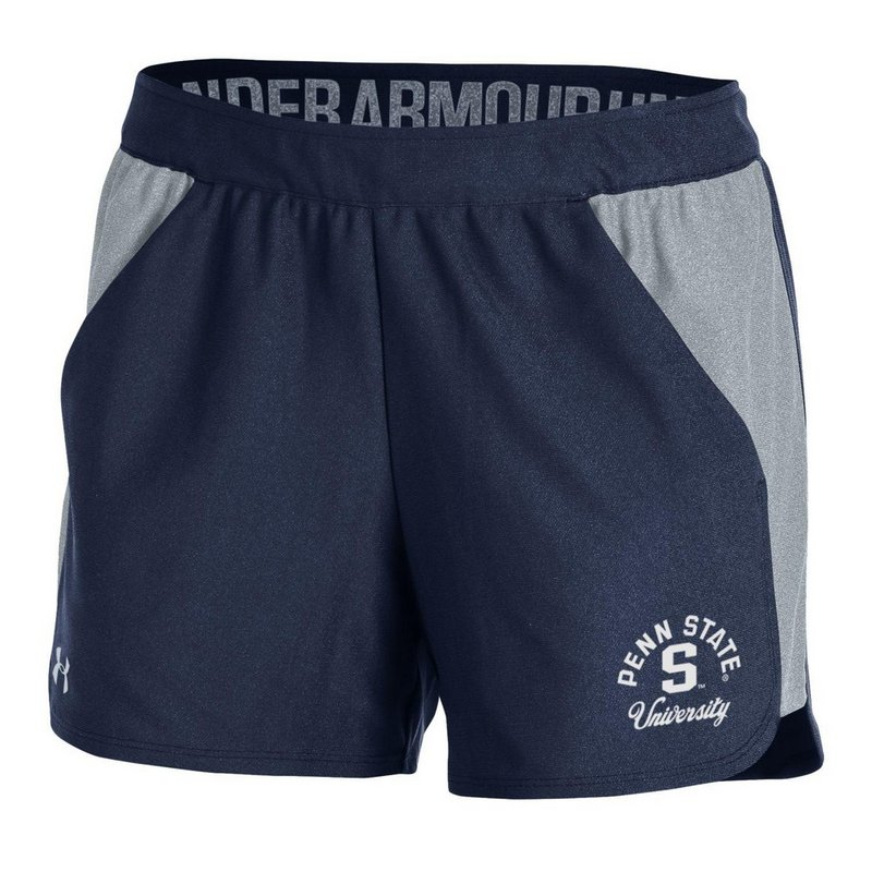 Penn State Under Armour Women's Navy and Grey Playoff Shorts Nittany Lions (PSU) (Under Armour )