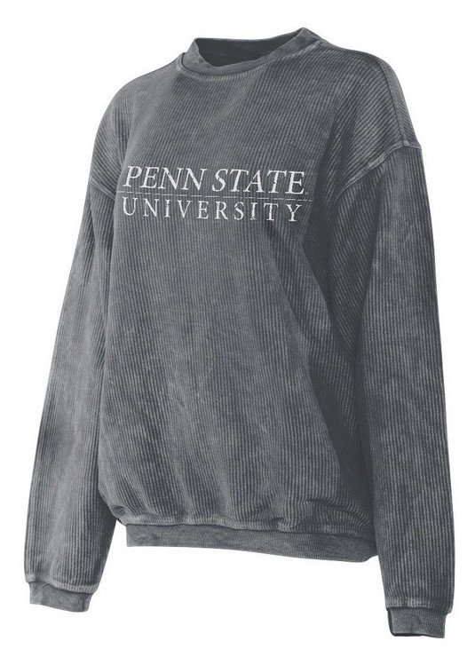 Penn State University Corded Crew Sweatshirt Charcoal Nittany Lions (PSU)
