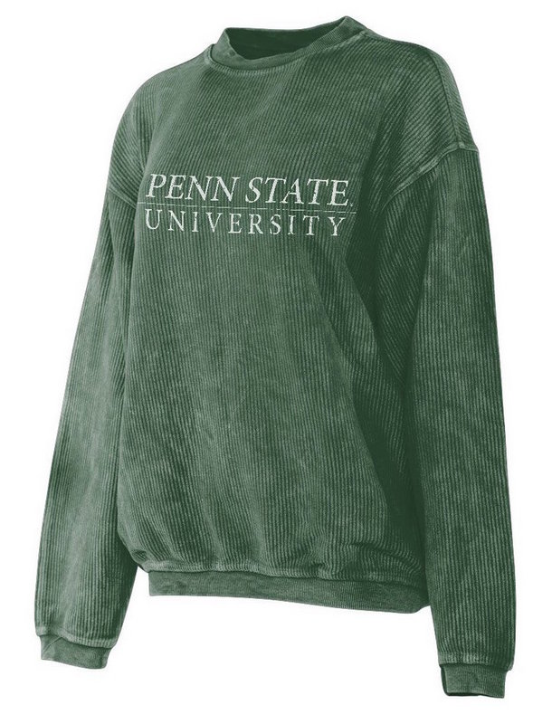 Penn State University Corded Crew Sweatshirt Forest Green Nittany Lions (PSU)