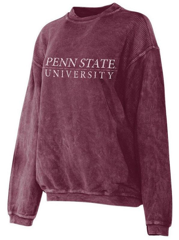 Penn State University Corded Crew Sweatshirt Maroon Nittany Lions (PSU)