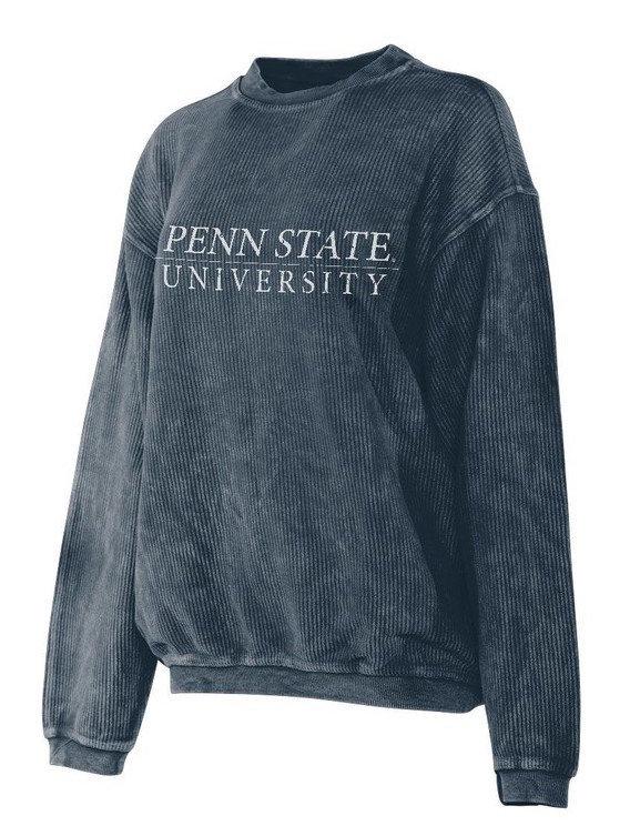 Penn State University Corded Crew Sweatshirt Navy Nittany Lions (PSU)