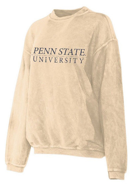 Penn State University Corded Crew Sweatshirt Oatmeal Nittany Lions (PSU)