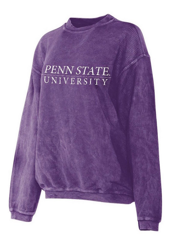 Penn State University Corded Crew Sweatshirt Purple Nittany Lions (PSU)