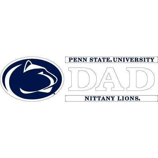 "Penn State University Dad Decal - 6"" x 2"" Nittany Lions (PSU)"
