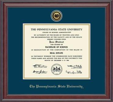 Penn State University Diploma Frame Medallion Engraved Gold Studio ...