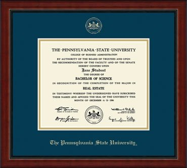 Penn State University Embossed Academy Diploma Frame Nittany Lions ...