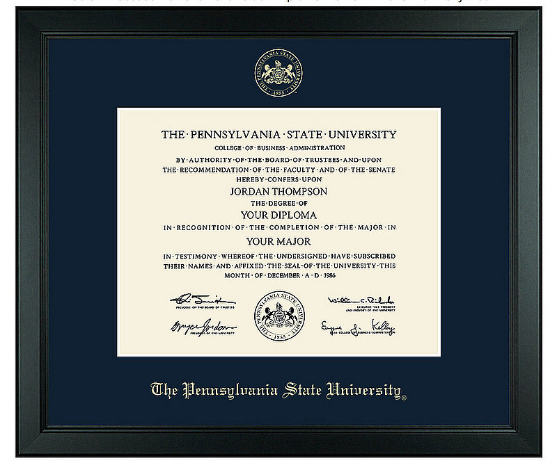 Penn State University Gold Embossed Achievement Edition Diploma Frame Nittany Lions (PSU)