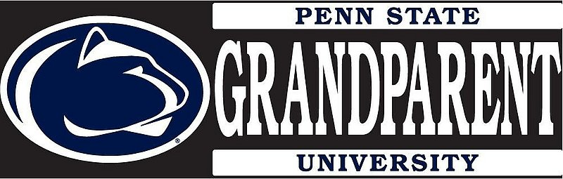 "Penn State University Grandparent Decal - 6""x2"" Nittany Lions (PSU)"
