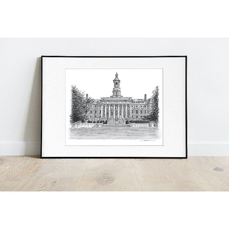 "Penn State University Old Main Fine Art Print 8""x10"" Matted Nittany Lions (PSU)"