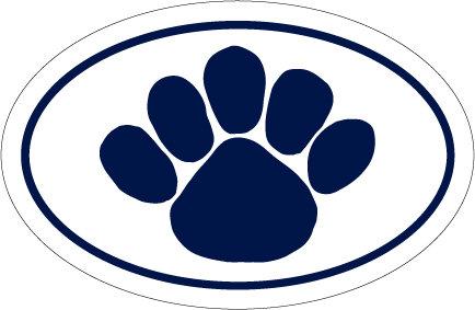 "Penn State University Paw Car Magnet Euro-Style - 4"" x 6"" Nittany Lions (PSU) PSU029"