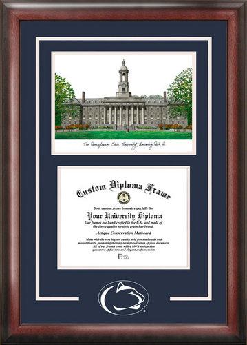 Penn State University Spirit Graduate Frame with Lithograph Nittany Lions (PSU) DSCI-PA994SG